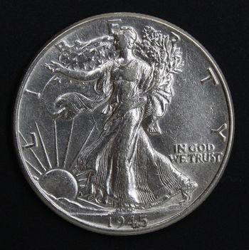 Choice AU/Unc 1945 Walking Liberty Half Dollar