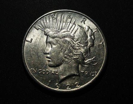 Circulated 1922 S Silver Peace Dollar
