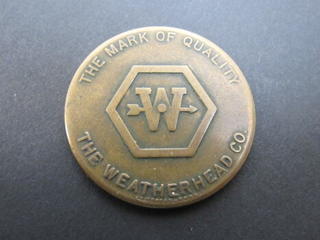 Collectable Coin Weatherhead Co. R&R She Comes/Goes