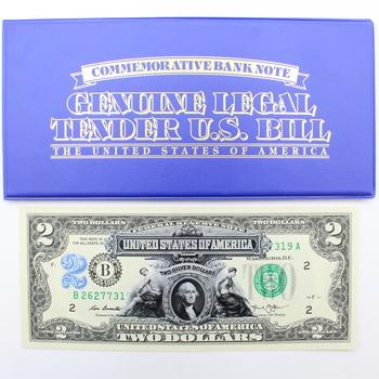 George Washington Commemorative $2 Bank Note Enhanced 1899 $2 Silver Cert. Image