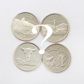 Lot of 4 Proof State Quarter Dollars (Random Selection)