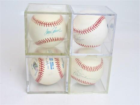 Lot of 4 Signed Baseballs David Winfield A. Wangner & More!