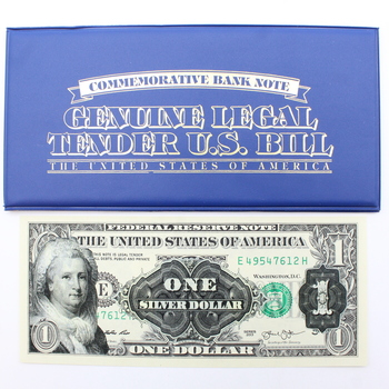 Martha Washington Commemorative $1 Bank Note with Enhanced Images