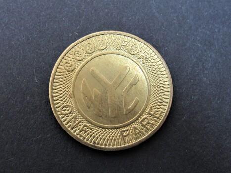 "New York City Subway Token ""Y"" Logo 1950s-1970s"