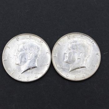 Pair of 1964 90% Silver B.U. Kennedy Half Dollars