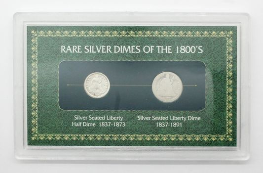 Rare Silver Dimes of the 1800's Seated Liberty Half Dime (1837-1873) Seated Liberty Dime (1837-1891)
