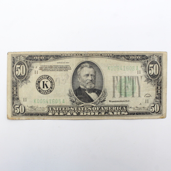 Series of 1934 $50 Federal Reserve Note (e)