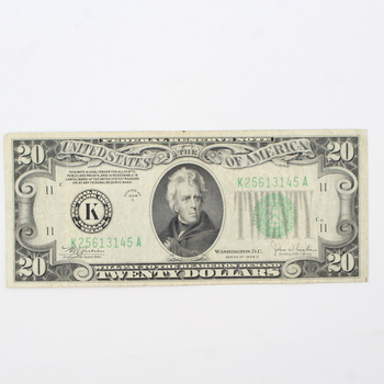 Series of 1934 C $20 Federal Reserve Note (046)