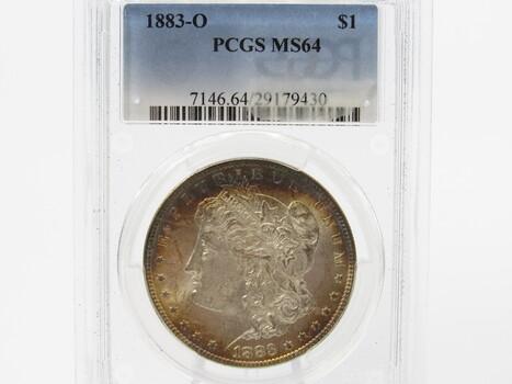 SILVER 1883-O Morgan Dollar PCGS MS64 (330)