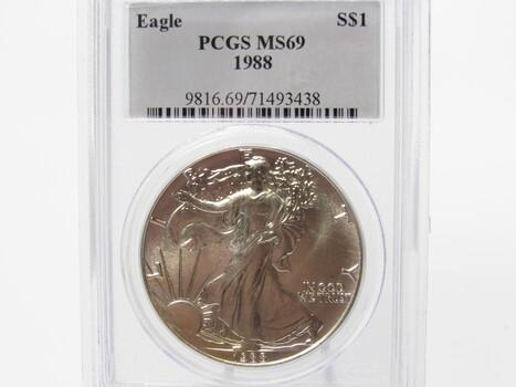SILVER 1988 American Eagle PCGS MS69 (302)