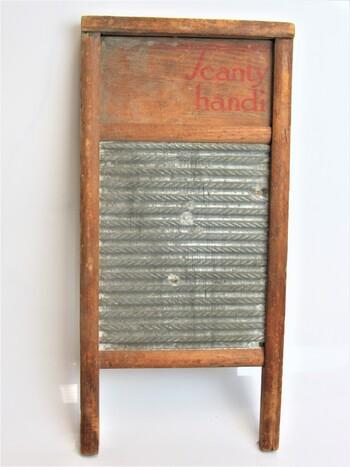 Vintage Washing Board Scanty Handy Wood