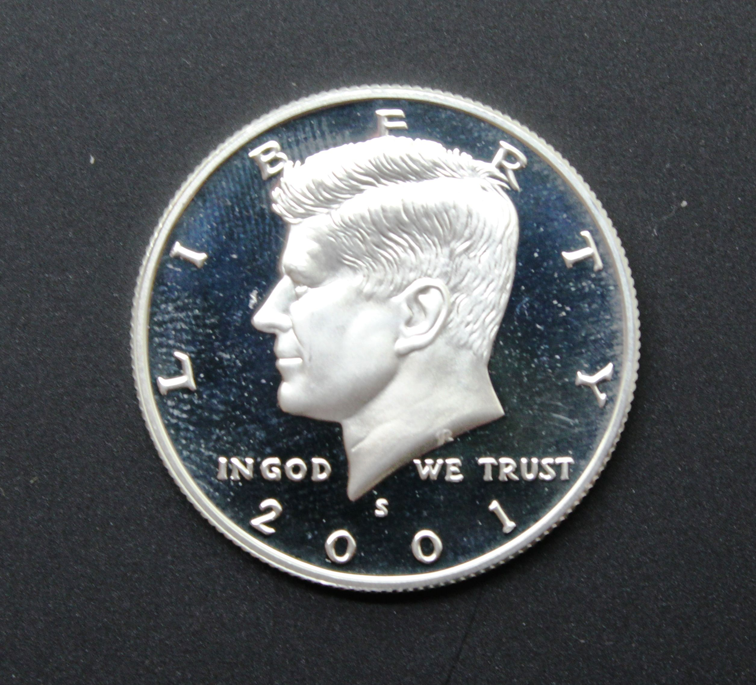Proof 2001 Kennedy S Half Dollar
