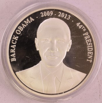 2009-2013 Barrack Obama 44th President Silver Plated Special Round