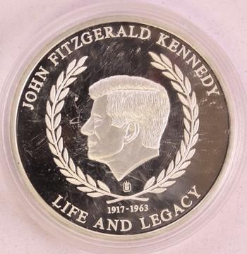 1917-1963 John F. Kennedy Berlin Wall Speech Silver Plated Special Round