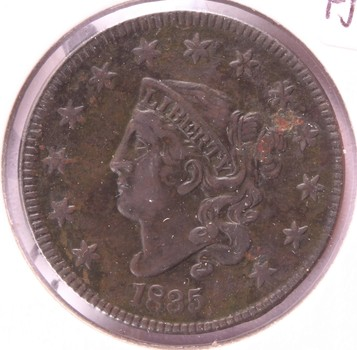 1835 US Matron Head Large Cent Large 8 and Stars Fine