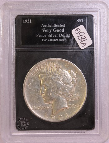 1921 US Silver Peace Dollar $1
