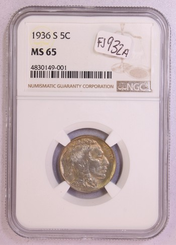 1936 US Buffalo Nickel MS65 NGC