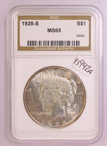 1928 S US Silver Peace Dollar $1 MS65 NGC