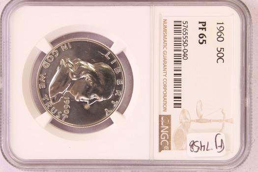 1960 US Silver PROOF Franklin Half Dollar 50c PF65 NGC
