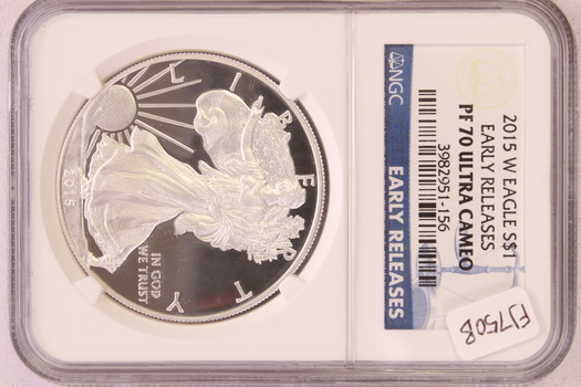 2015 W US Silver Eagle $1 Early Releases PF70 ULTRA CAMEO NGC