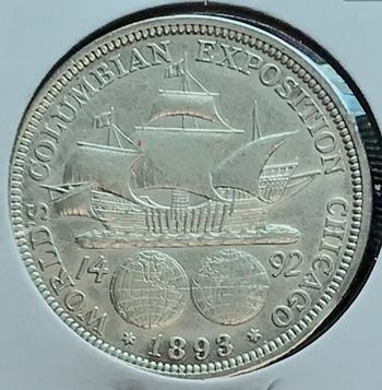 1893 US Silver Colombian Half Dollar 50c Early Commemorative