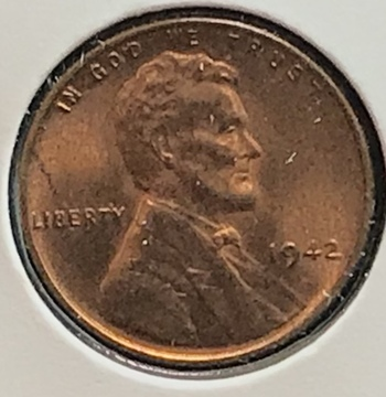 1942 P US Lincoln Wheat Cent 1c