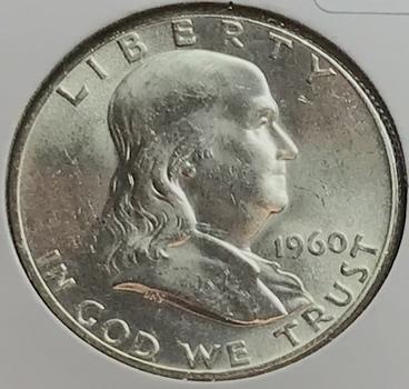 1960 P US Silver Franklin Half Dollar 50c