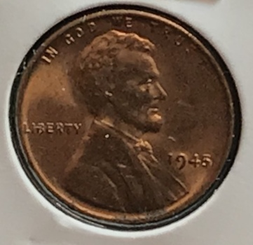 1945 P US Lincoln Wheat Cent 1c