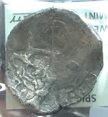 1630 Mexico Silver 8 Reales Spice Islands Shipwreck Coin 23.1g