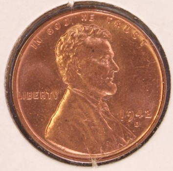 1942 D US Lincoln Wheat Cent 1c