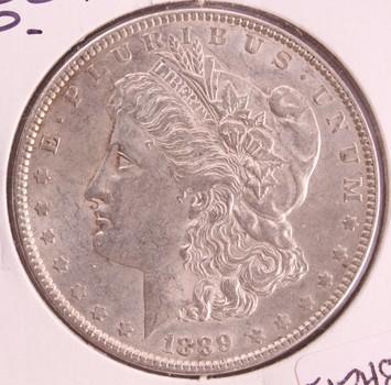 1889 P US Silver Morgan Dollar $1 UNC