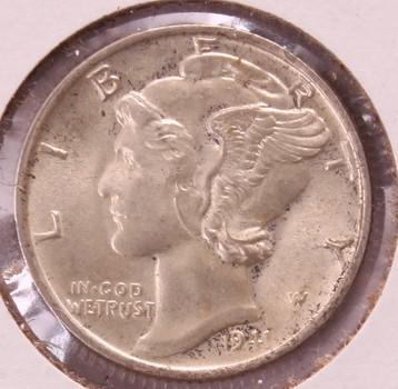 1941 P US Silver Mercury Dime 10c GEM Frosty BU