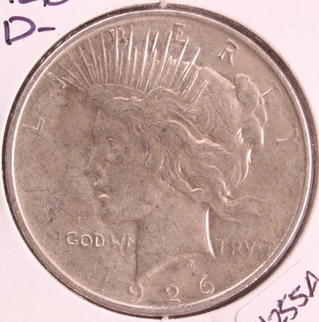 1926 D US Silver Peace Dollar $1