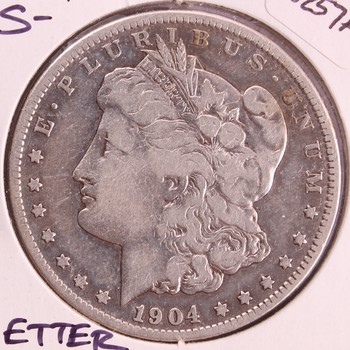 1904 S US Silver Morgan Dollar $1 Better Date