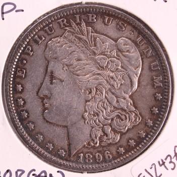 1896 P US Silver Morgan Dollar $1 AU