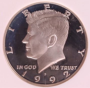 1992 S US Silver Kennedy Half Dollar 50c Ultra Cameo PF69 NGC