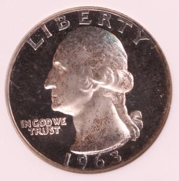1963 US Silver Washington Quarter PF65 Cameo ANACS