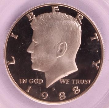 1988 S US Kennedy Half Dollar 50c PR69DCAM PCGS