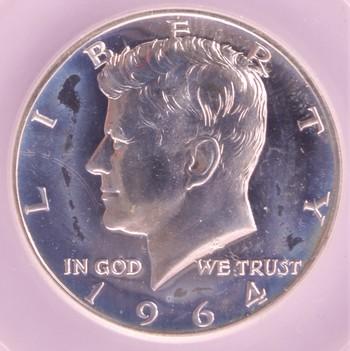 1964 US Silver Kennedy Half Dollar 50c PR65 SEGS
