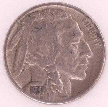 1937 US Buffalo Nickel 5c