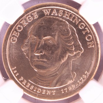 2007 D US George Washington $1 First Day of Issue MS65 NGC