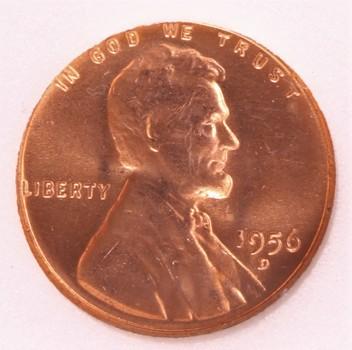 1956 D Lincoln Cent 1c BU