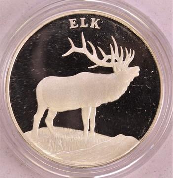 2003 US Mint Silver PROOF ELK National Wildlife Refuge System Centennial Medal