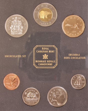 2000 Royal Canadian Mint Uncirculated Coin Set