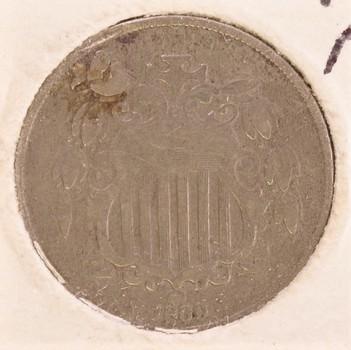 1869 US Shield Nickel 5c