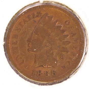 1896 US Indian Head Penny 1c