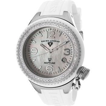 Swiss Legend 11844D-WWSA Neptune Ceramic (44mm) Mother of Pearl/Diamond Watch