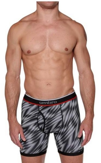 UMBRO Men's Performance Boxer Briefs Black / Charcoal Grey Shorts- Size SMALL