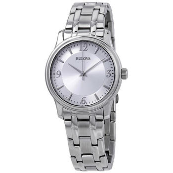 Bulova Silver Dial Stainless Steel Quartz Men's Watch 96A000