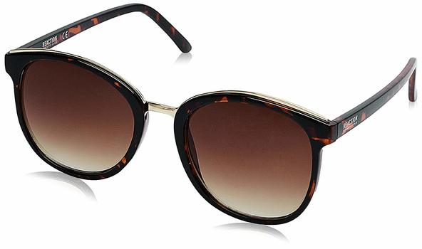Kenneth Cole KC2767-52F Square Brown Tortoise with Gold /Brown Lenses Sunglasses